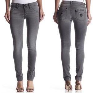 Hudson Collin Skinny Flap Pocket Jeans Gray 28